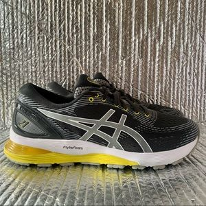 Asics Women's Gel-Nimbus 21 1012A156 Grey Running Shoes Lace Up Low Top Size 9.5